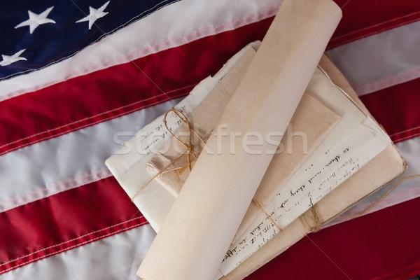Juridiques documents drapeau américain fond pavillon Photo stock © wavebreak_media