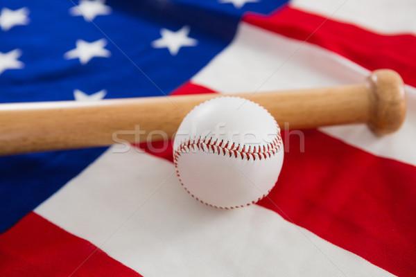 Beisebol taco de beisebol bandeira americana esportes azul Foto stock © wavebreak_media