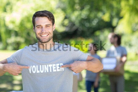 Boy practicing tug of war during obstacle course training Stock photo © wavebreak_media