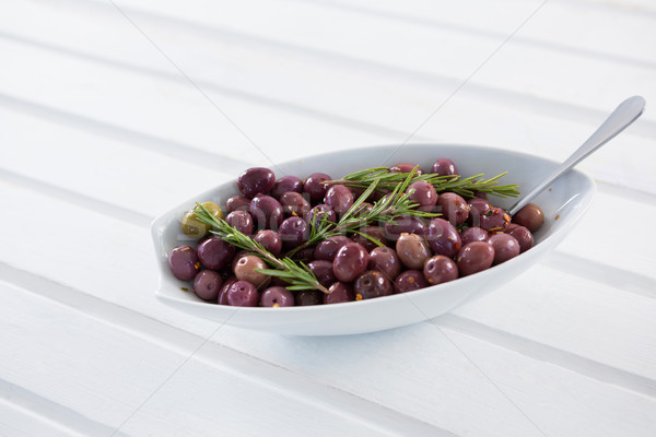 Olives garnished with rosemary Stock photo © wavebreak_media