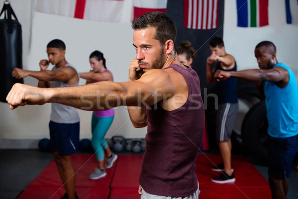 Jovem atletas boxe bandeiras fitness Foto stock © wavebreak_media