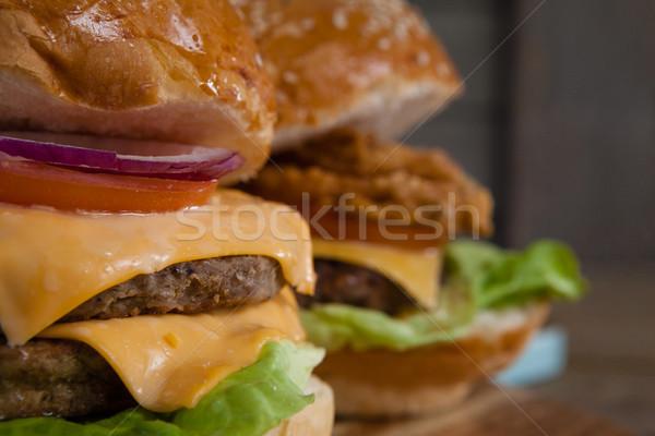 Stock photo: Close-up of hamburgers