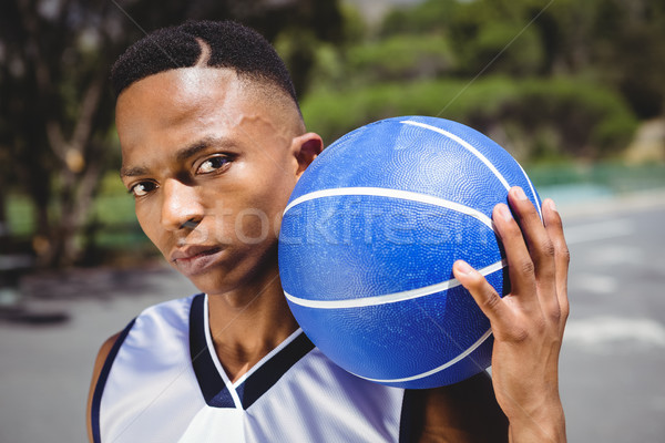 肖像 男性 代 バスケットボール 立って ストックフォト © wavebreak_media