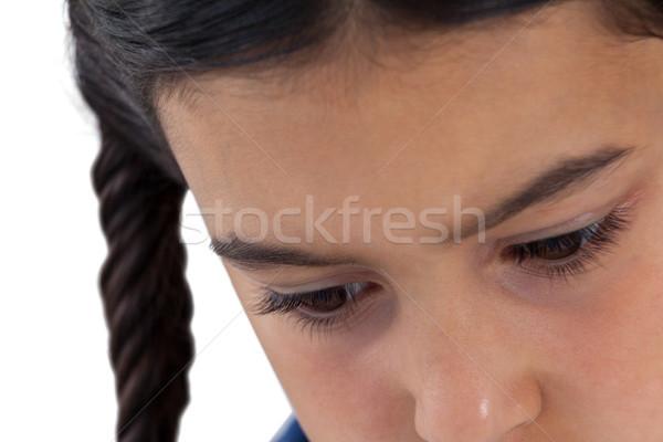 悲しい 少女 下向き 白 クローズアップ 赤ちゃん ストックフォト © wavebreak_media