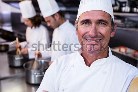 şefler tatlı cam restoran gülen Stok fotoğraf © wavebreak_media