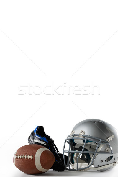 American football with sports helmet and shoe Stock photo © wavebreak_media