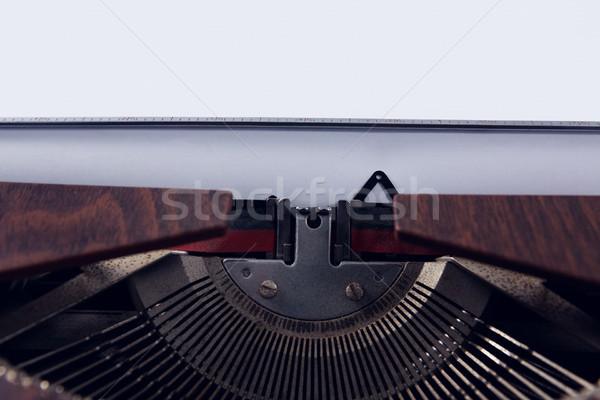 Közelkép klasszikus írógép nyomtatott Stock fotó © wavebreak_media