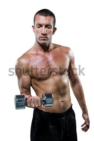 Gömleksiz atlet beyaz adam Stok fotoğraf © wavebreak_media