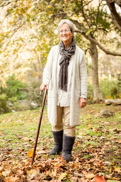 Senior mulher parque natureza verde retrato Foto stock © wavebreak_media