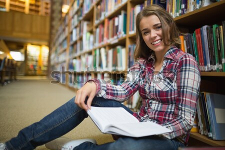 érett diák könyvtár laptopot használ egyetem nő Stock fotó © wavebreak_media