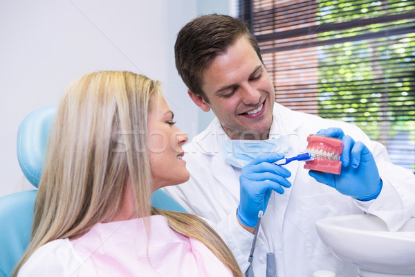 Dentista dental bolor paciente médico Foto stock © wavebreak_media
