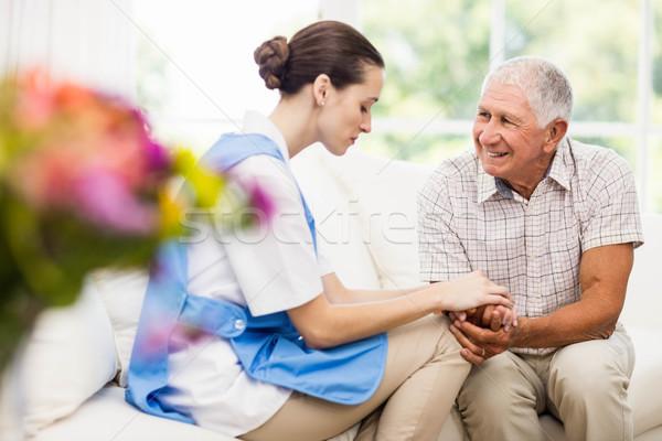 Hemşire bakım hasta yaşlı hasta Stok fotoğraf © wavebreak_media
