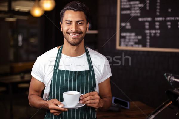 笑みを浮かべて バリスタ コーヒー 食品 ストックフォト © wavebreak_media