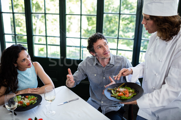 Couple complaining about the food to chef Stock photo © wavebreak_media