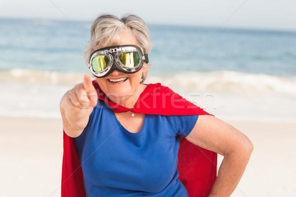 Senior woman wearing superwoman custome Stock photo © wavebreak_media