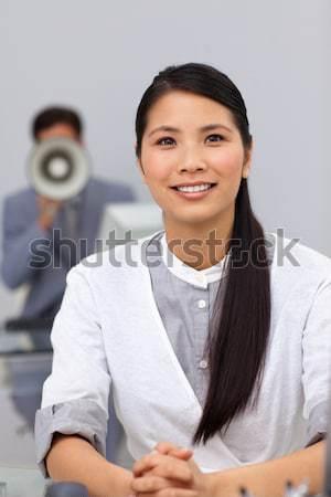 Portret glimlachend masseuse spa gelukkig hotel Stockfoto © wavebreak_media