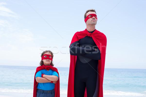 Man zoon permanente zee wal Stockfoto © wavebreak_media
