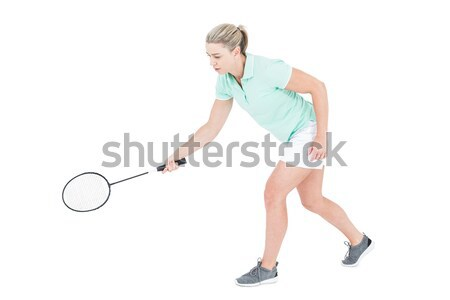 Athlete playing tennis with a racket  Stock photo © wavebreak_media