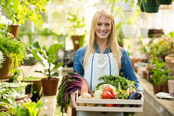 Vrouwelijke eigenaar verse groenten portret Stockfoto © wavebreak_media