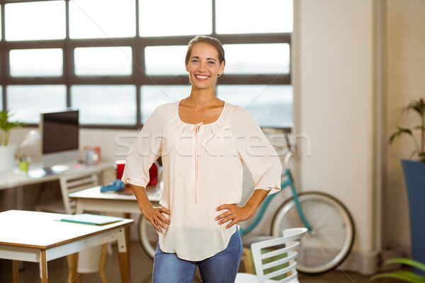 Business executive standing with hand on hip in office Stock photo © wavebreak_media