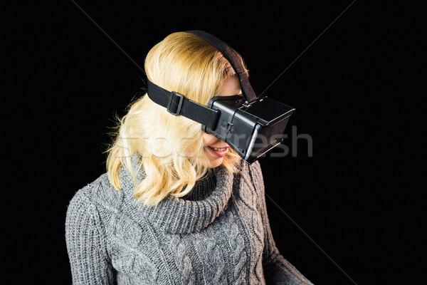 女性 現実 バーチャル ヘッド 黒 幸せ ストックフォト © wavebreak_media