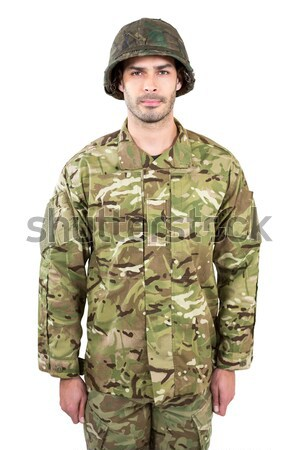 Portrait of soldier holding a rifle Stock photo © wavebreak_media