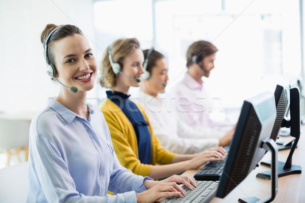Klantenservice werken call center team business Stockfoto © wavebreak_media