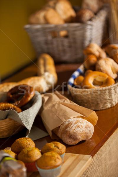 Különböző édes ételek pult áruház kenyér Stock fotó © wavebreak_media