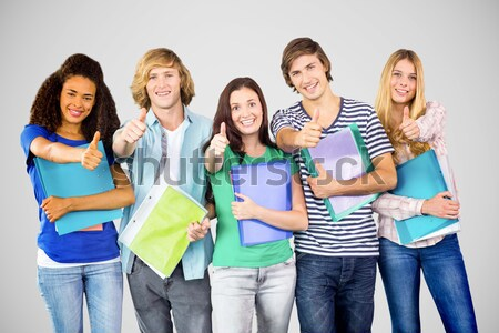 Feliz faculdade estudantes branco Foto stock © wavebreak_media