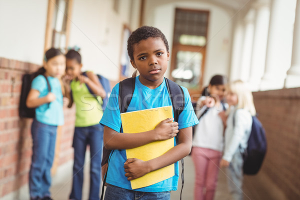 Sad pupil being bullied by classmates at corridor Stock photo © wavebreak_media