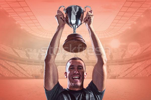 изображение портрет успешный регби игрок Сток-фото © wavebreak_media