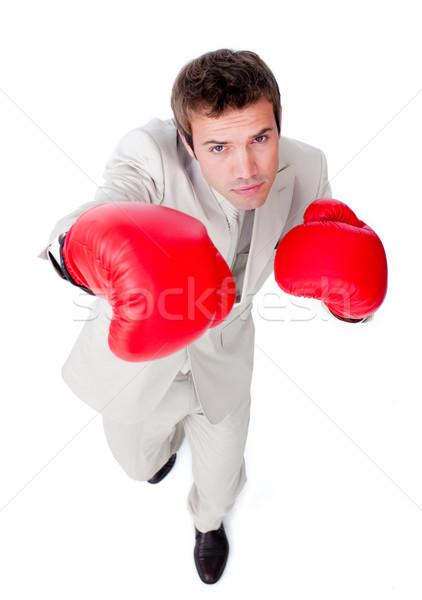 Vonzó üzletember verseny fehér kéz férfi Stock fotó © wavebreak_media