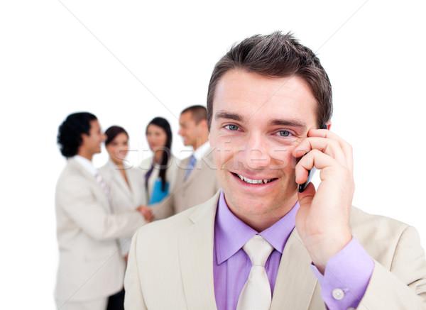 Retrato atraente empresário telefone equipe telefone Foto stock © wavebreak_media