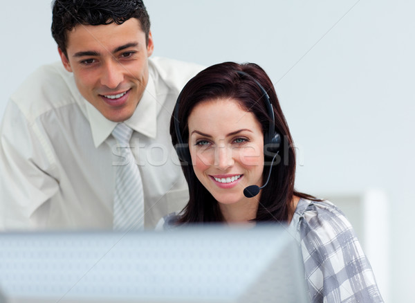 Assertive manager checking his employee's work  Stock photo © wavebreak_media