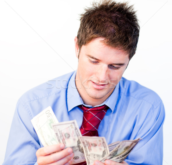 Stock photo: Male counting money