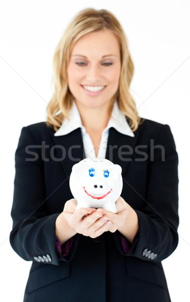 Encantador empresária branco dinheiro Foto stock © wavebreak_media