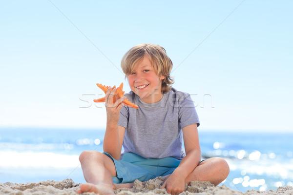 Küçük erkek denizyıldızı deniz mavi seyahat Stok fotoğraf © wavebreak_media