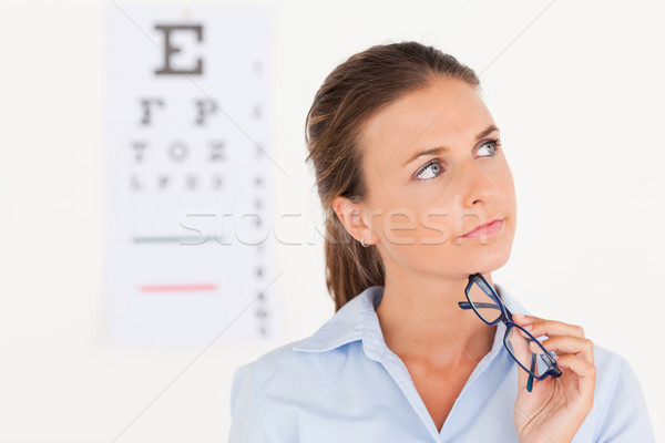 Szem specialista tart szemüveg műtét mosoly Stock fotó © wavebreak_media