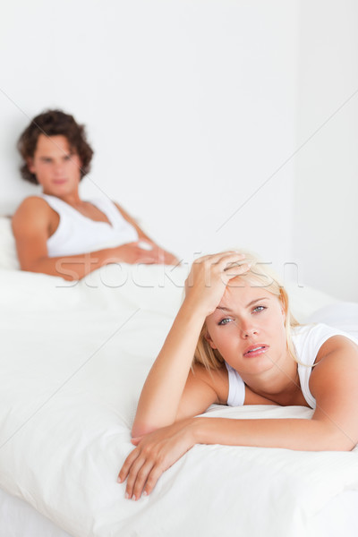 Portrait of an upset couple after having an argument with the camera focus on the woman Stock photo © wavebreak_media