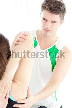 Beteg különleges felügyelet szoba férfi sport Stock fotó © wavebreak_media