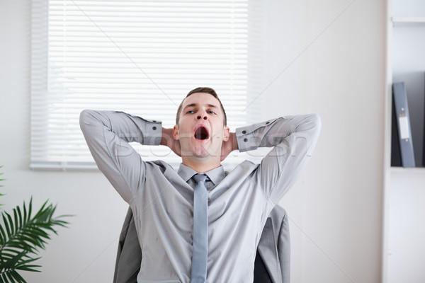 Tired businessman yawning Stock photo © wavebreak_media