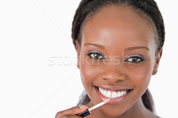 Sorrindo gloss branco mulher Foto stock © wavebreak_media