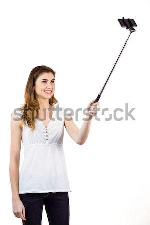 女性 下向き 手 白 背景 ストックフォト © wavebreak_media