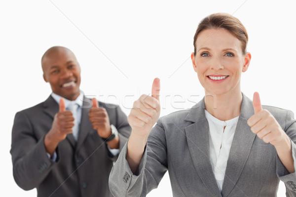 деловые люди улыбаясь бизнеса улыбка фон Сток-фото © wavebreak_media