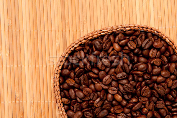 Close up of a basket filled with coffee beans Stock photo © wavebreak_media