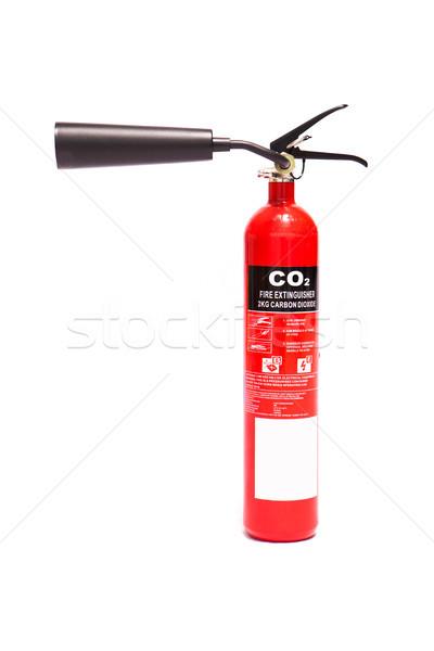 Kırmızı karbon yangın söndürücü Stok fotoğraf © wavebreak_media