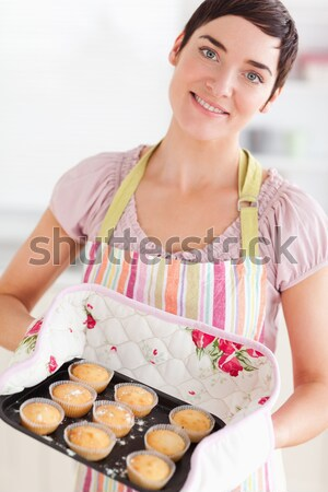 Gelukkig jonge meid broodmand portret Stockfoto © wavebreak_media