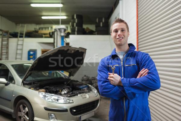 Confident male mechanic with spanner Stock photo © wavebreak_media