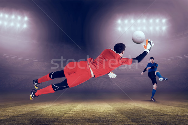 Imagen encajar objetivo saltar hasta Foto stock © wavebreak_media
