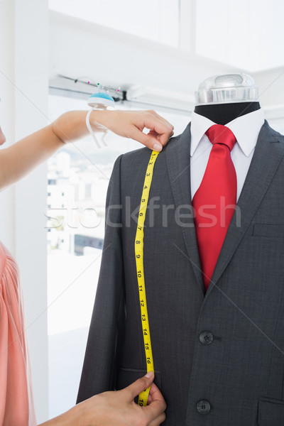 Extrém közelkép kezek mér öltöny női Stock fotó © wavebreak_media